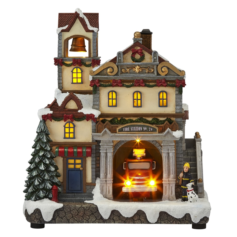 Carole Towne Pre-Lit Musical Village Scene Tabletop Decoration Twinkling Multicolor Led Lights
