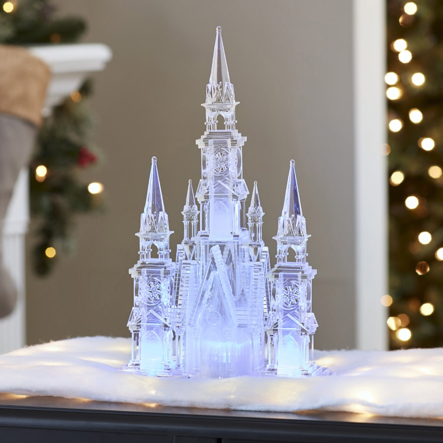 Holiday Living Pre-Lit House Figurine with Color Changing LED Lights