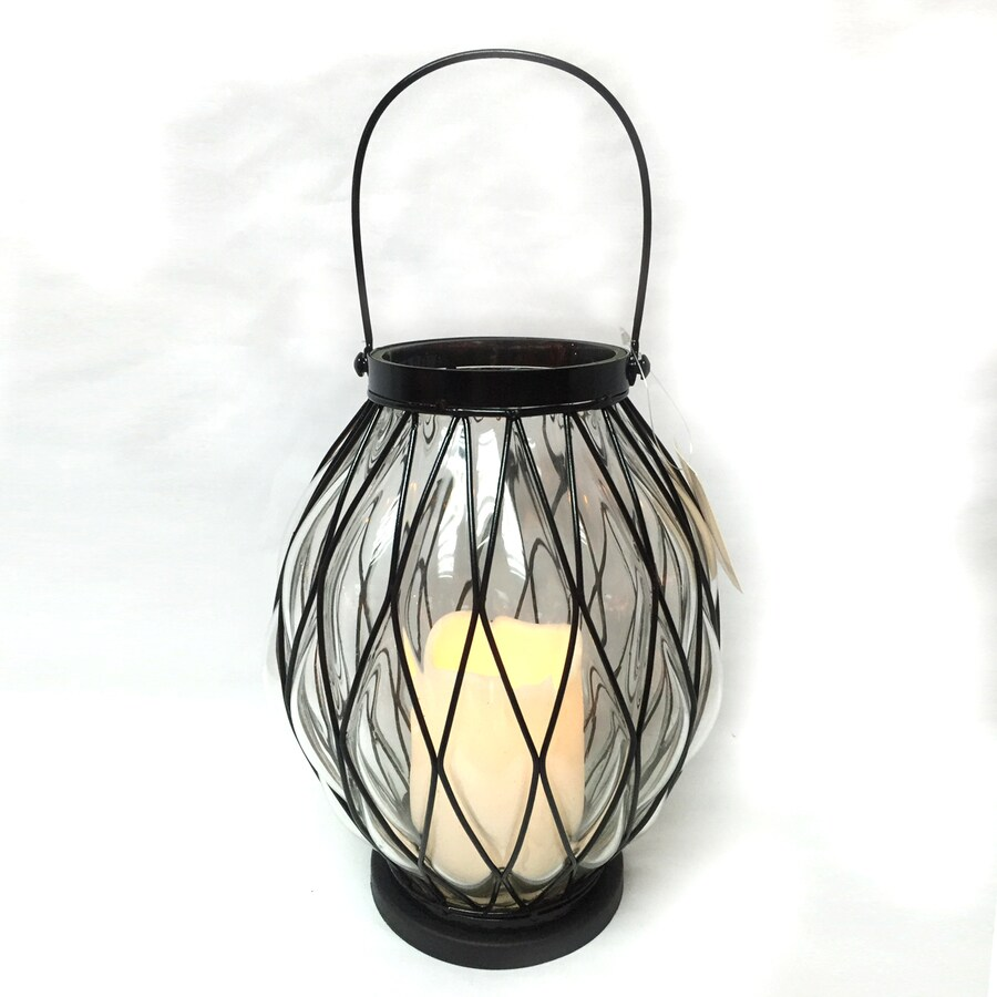 Holiday Living Lighted Lantern Christmas Gift with Twinkling Yellow LED Lights
