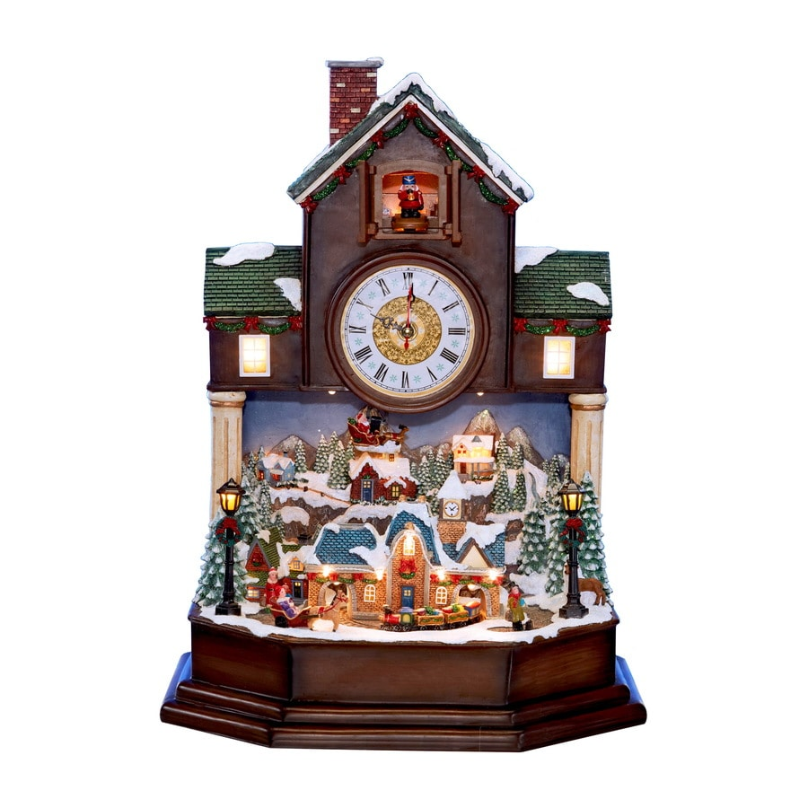 Holiday Living Lighted Musical Christmas Clock Tower