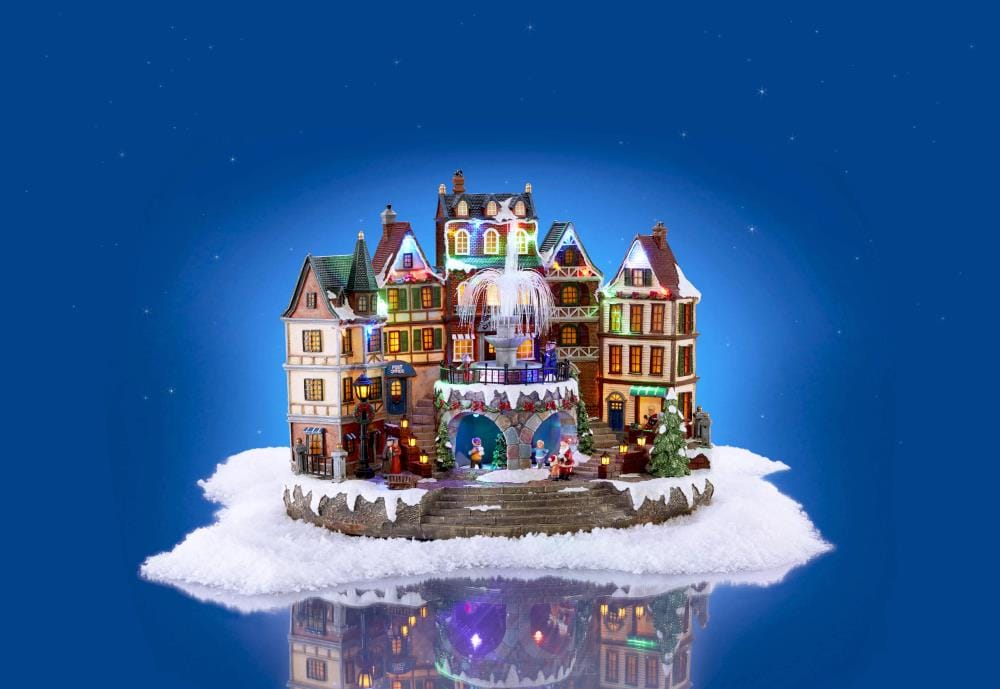 Holiday Living Animated Village Scene At Lowes Com