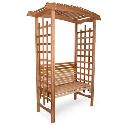 Surprising All Things Cedar Cedar Garden Arbor With Bench At Lowes Com Pdpeps Interior Chair Design Pdpepsorg