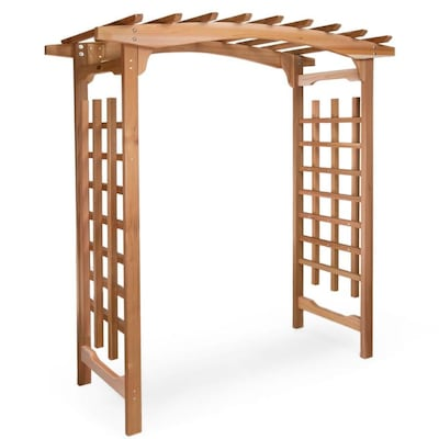 All Things Cedar 71 Ft W X 87 Ft H Natural Wood Garden Arbor At