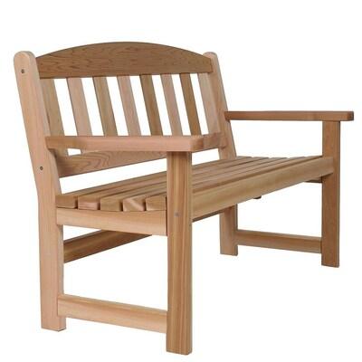 Admirable All Things Cedar Cedar Garden Bench At Lowes Com Short Links Chair Design For Home Short Linksinfo
