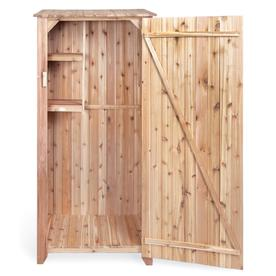 All Things Cedar Natural Wood Outdoor Storage Shed Common 23 In X