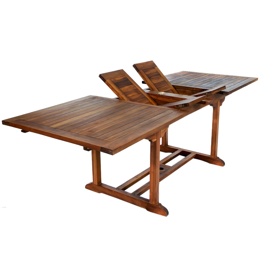 All Things Cedar Rectangle Extendable Dining Table 36 In W