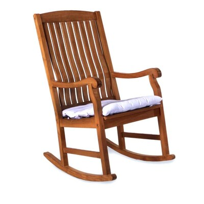 Terrific All Things Cedar Wood Rocking Chair S With White Slat Seat Creativecarmelina Interior Chair Design Creativecarmelinacom