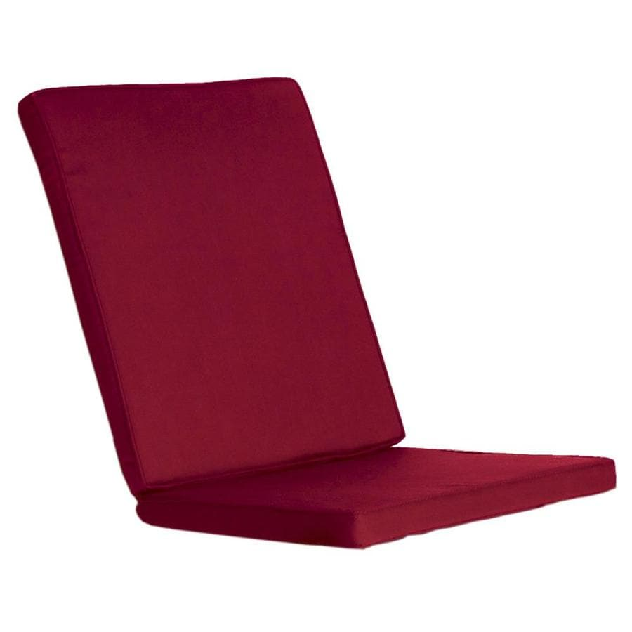 All Things Cedar 1 Piece Red Patio Chair Cushion At Lowes Com