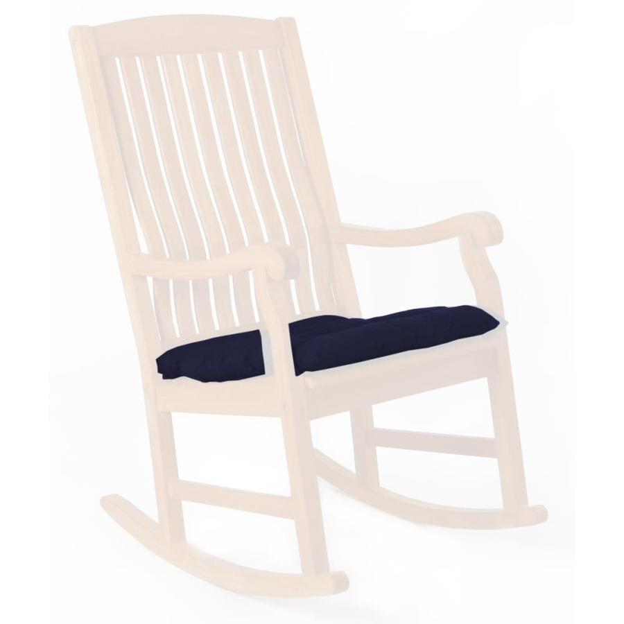 Wondrous All Things Cedar 1 Piece Blue Patio Chair Cushion At Lowes Com Home Remodeling Inspirations Genioncuboardxyz