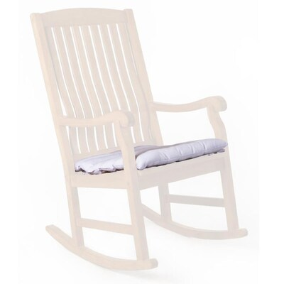 Magnificent All Things Cedar 1 Piece White Patio Chair Cushion At Lowes Com Home Remodeling Inspirations Genioncuboardxyz