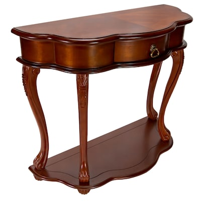 Marvelous All Things Cedar Cherry Casual Console Table At Lowes Com Bralicious Painted Fabric Chair Ideas Braliciousco