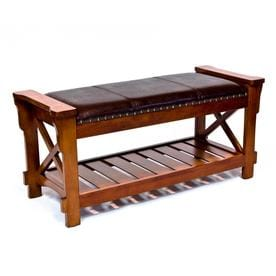 Excellent Brown Wood Veneer Indoor Benches At Lowes Com Ocoug Best Dining Table And Chair Ideas Images Ocougorg