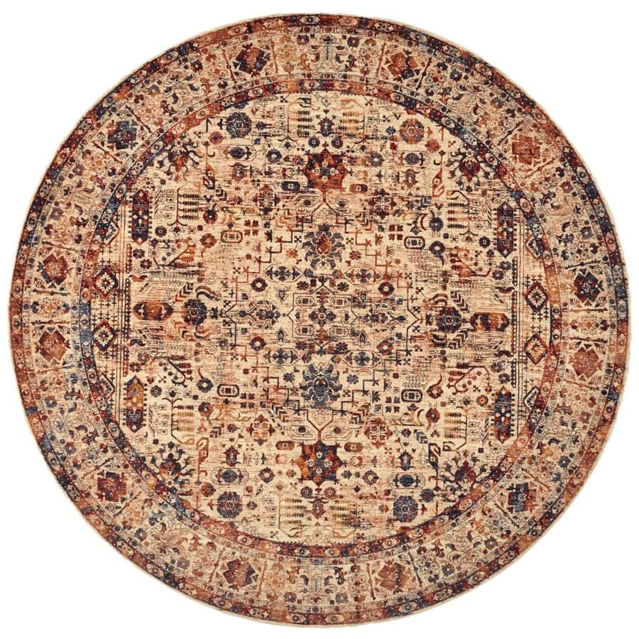 Room Envy Moberly Blue Round Indoor Area Rug Common 8 X 8 Actual