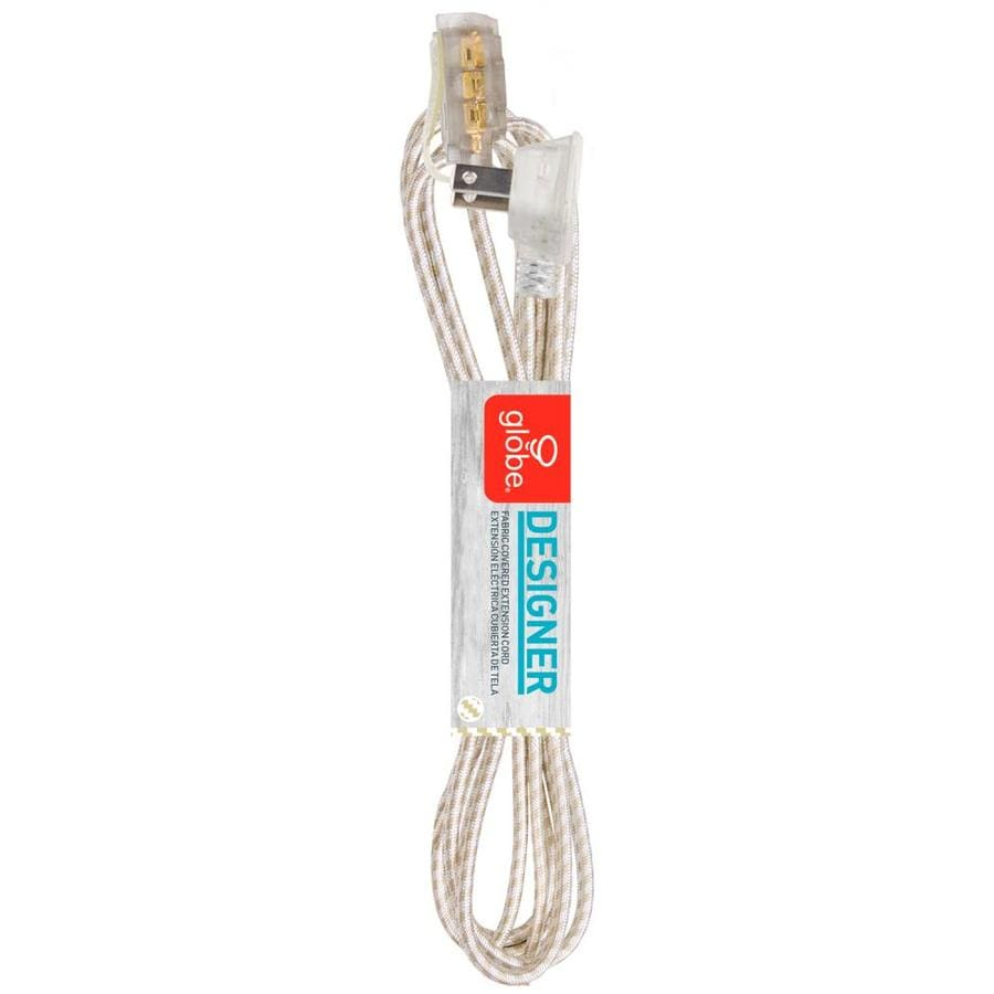 Globe Electric 9-ft 13-Amp 125-Volt 3-Outlet 16-Gauge Gold/White Indoor Household Extension Cord