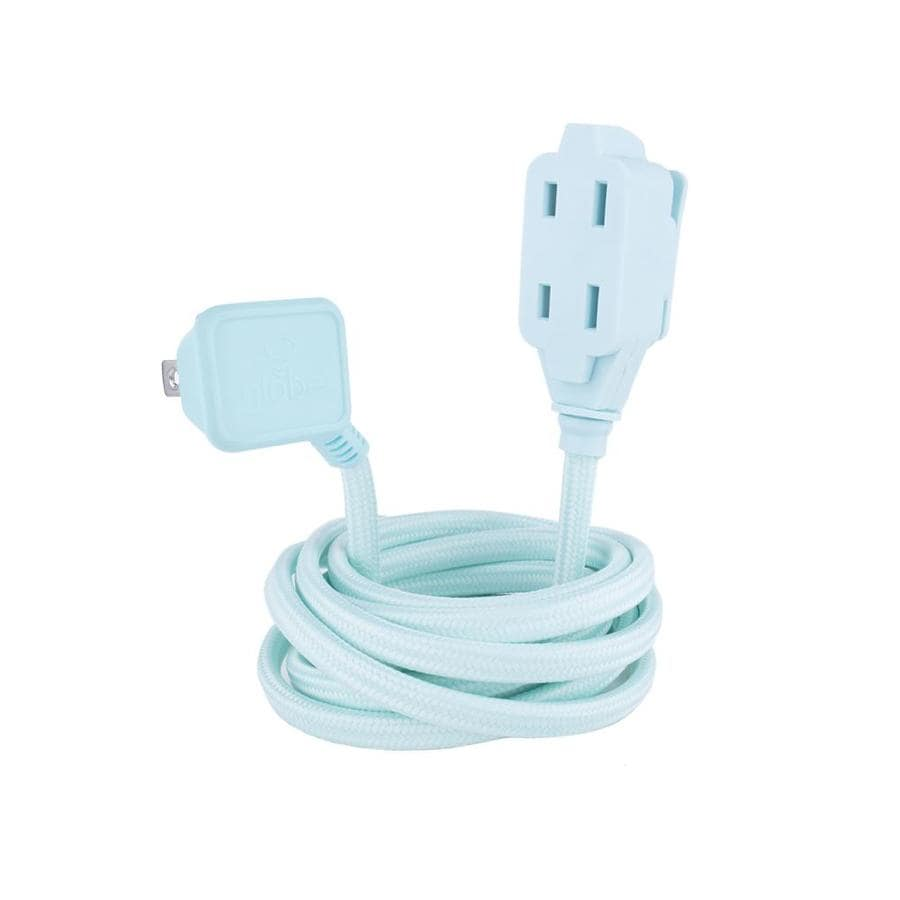 Globe Electric 9-ft 13-Amp 125-Volt 3-Outlet 16-Gauge Mint Indoor Extension Cord
