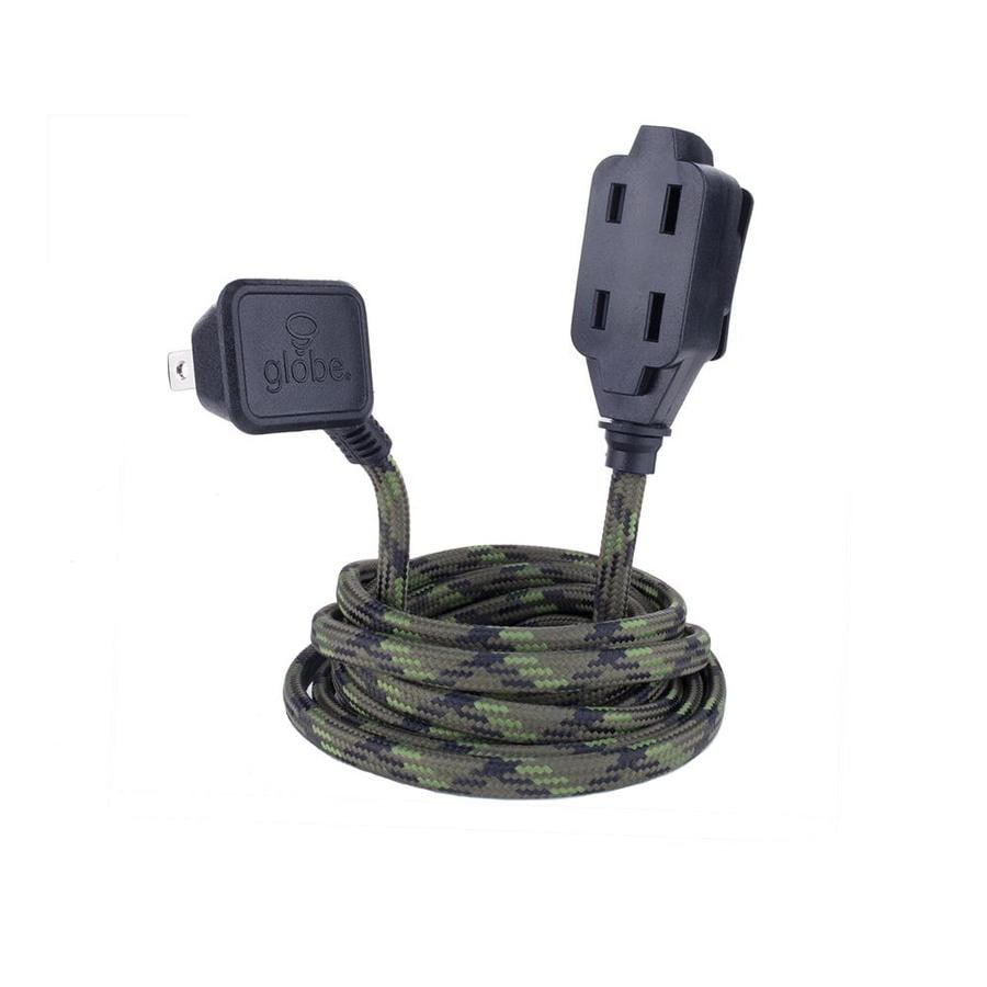 Globe Electric 9-ft 13 125-Volt 3-Outlet 16-Gauge Camo Indoor Extension Cord