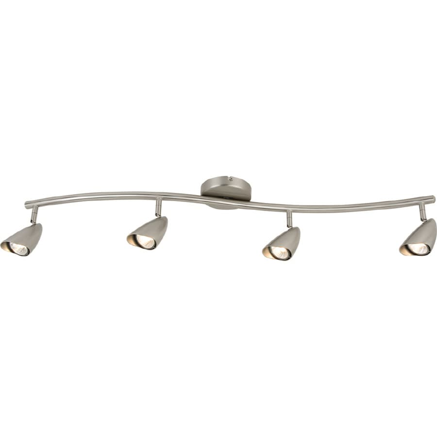 Portfolio Argon 4-Light 43.31-in Brushed Steel Dimmable Fixed Track Light Kit