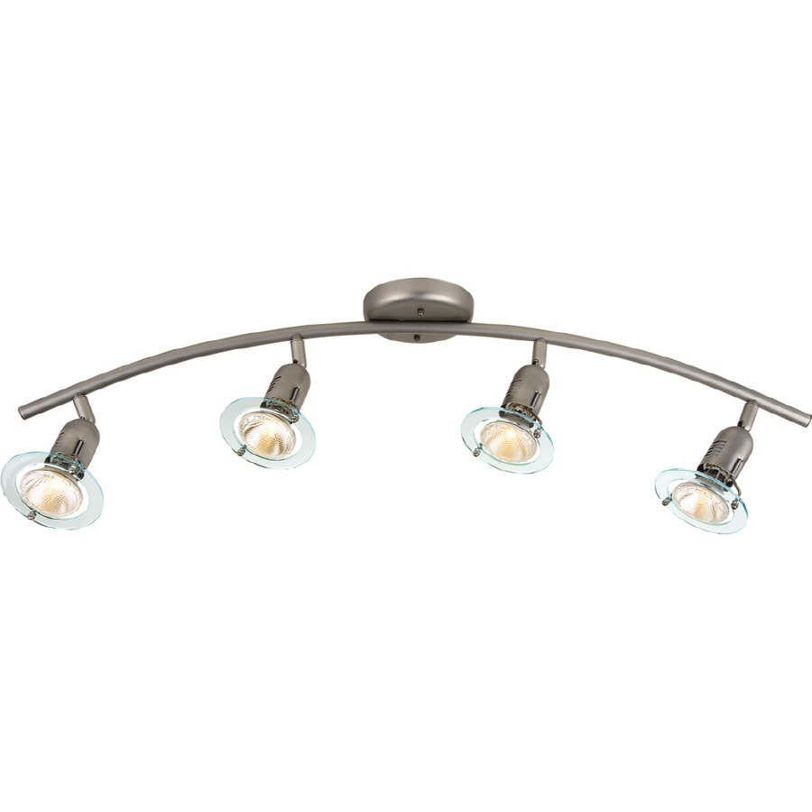 Portfolio Contempra 4-Light 35.43-in Brushed Nickel Dimmable Fixed Track Light Kit