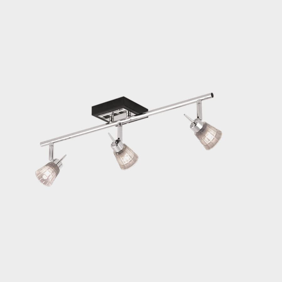 Chrome And Black Track Lighting: Portfolio Zara 3-Light 23.6-in Chrome & Black Fixed Track