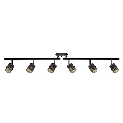 Kearney 6 Light 46 14 In Oil Rubbed Bronze Dimmable Standard Linear Track Lighting Kit