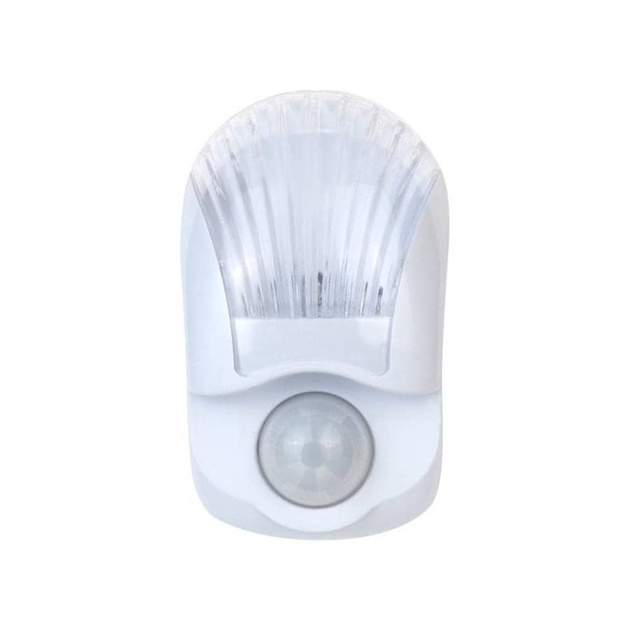 style selections clearwhite led night light with motion sensor and auto onoff
