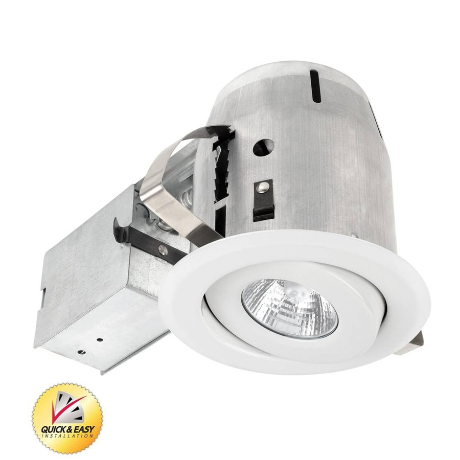 Utilitech White with Gimbal Remodel Recessed Light Kit (Fits Opening: 4-in)
