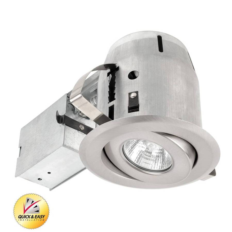 Utilitech Brushed Nickel with Gimbal Remodel Recessed Light Kit (Fits Opening: 4-in)