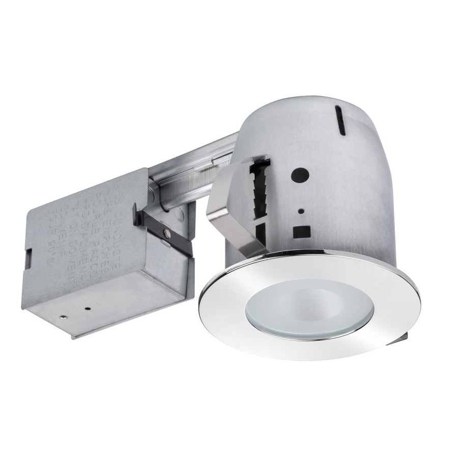 Utilitech Polished Chrome with Frosted Glass Remodel Recessed Light Kit (Fits Opening: 4-in)