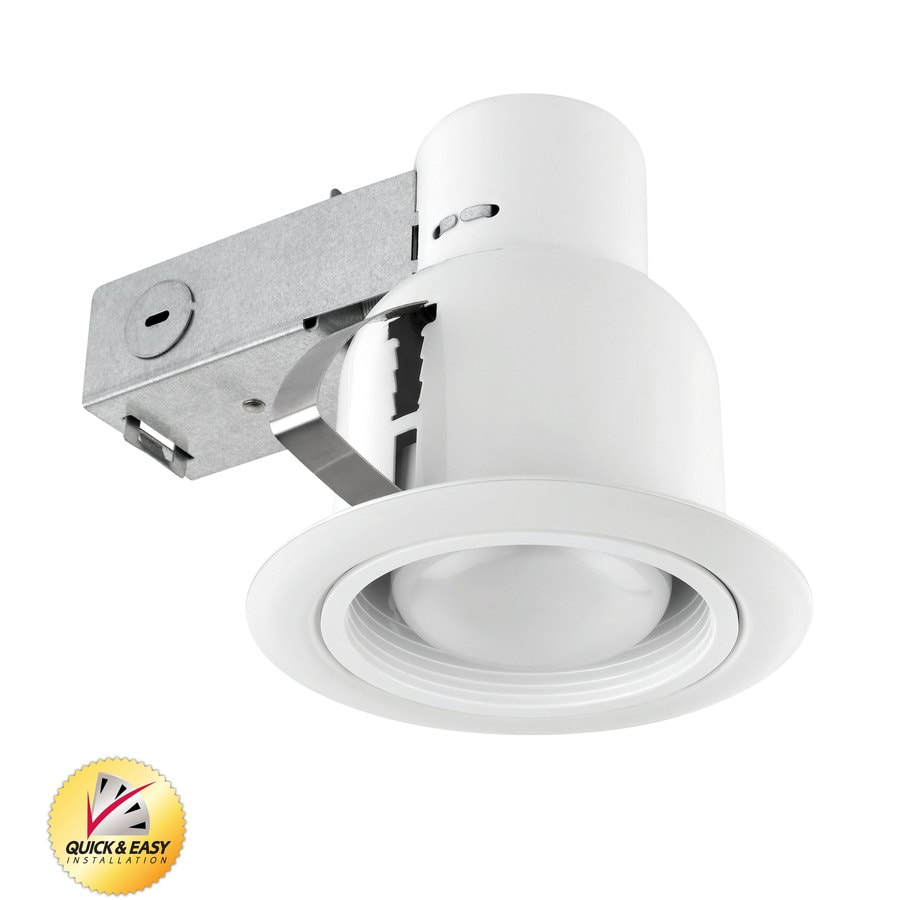Utilitech White with White Baffle Remodel Recessed Light Kit (Fits Opening: 4-in)