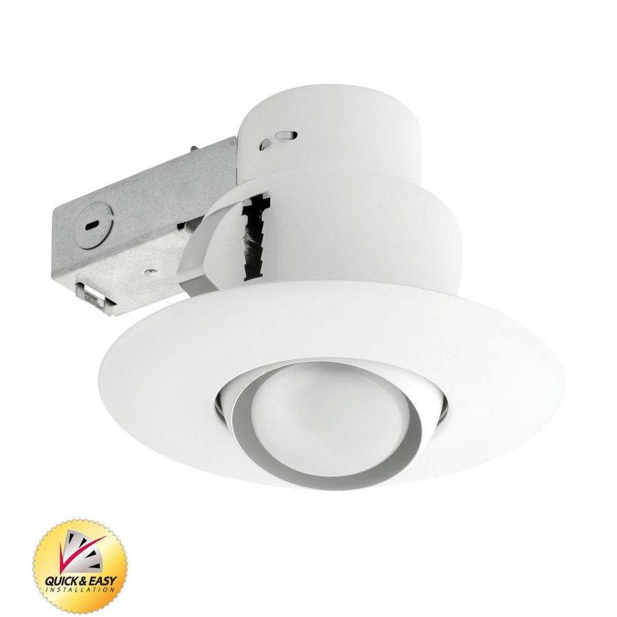 Utilitech White Remodel Recessed Light Kit (Fits Opening: 5 In)