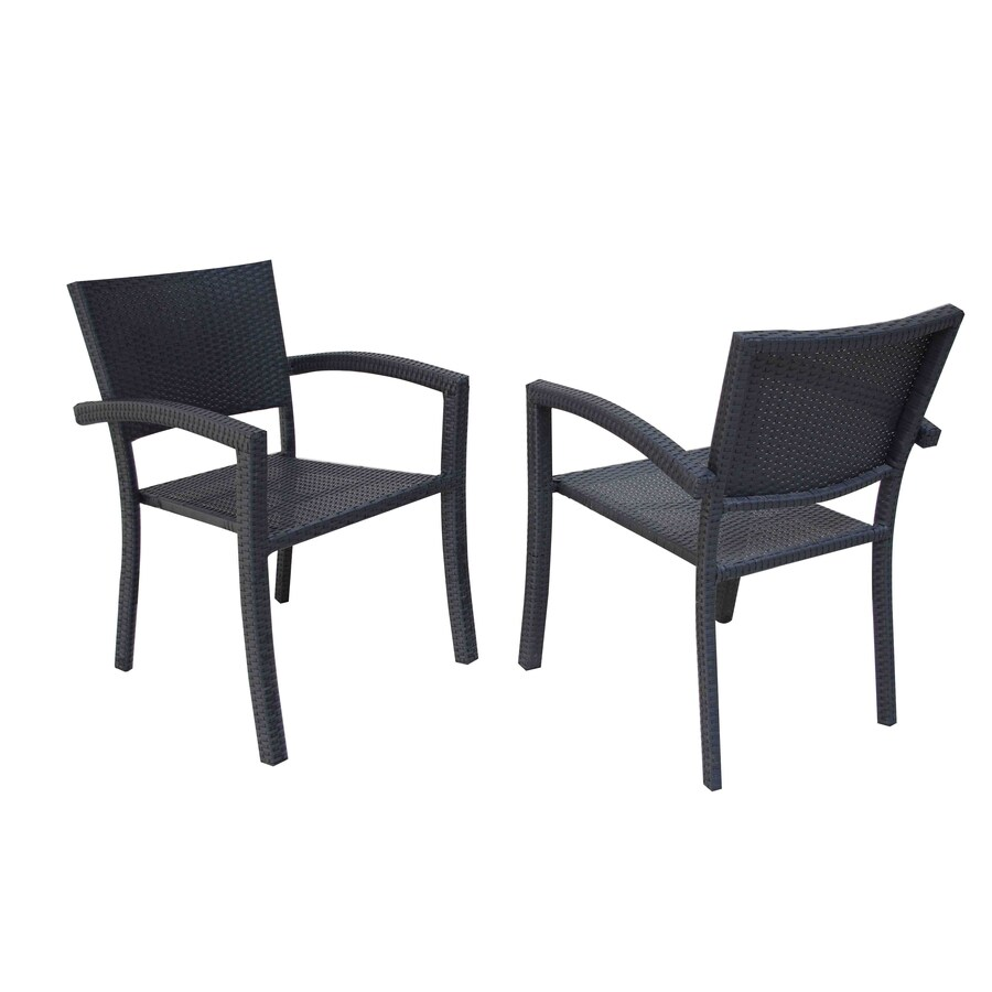 allen + roth Set of 2 Connelly Steel Patio Dining Chairs