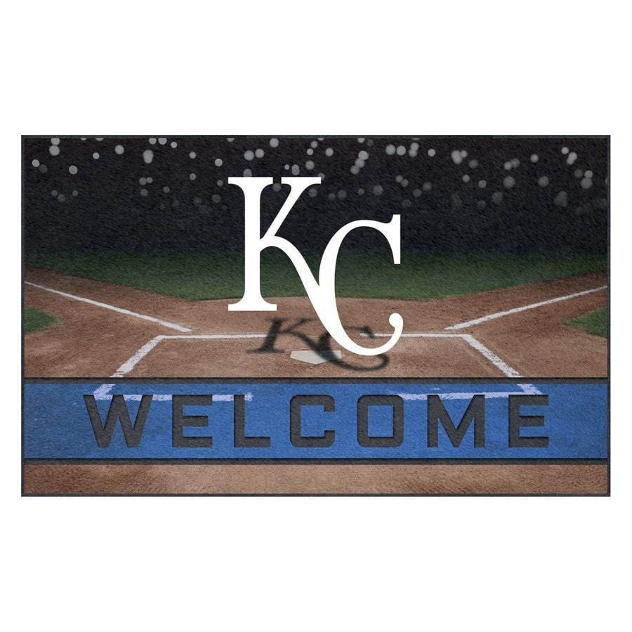 FANMATS 21920 Team Color Crumb Rubber Kansas City Royals Door Mat