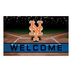 MLB New York Mets Crumb Rubber Door Mat 18u0022x30u0022