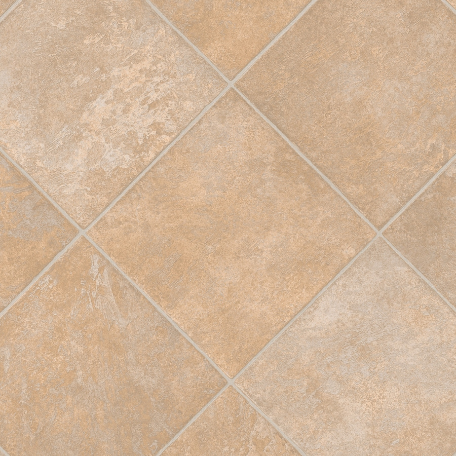IVC Inspire 13.167-ft W x Cut-to-Length Monticello 931 Tile Low-Gloss Finish Sheet Vinyl