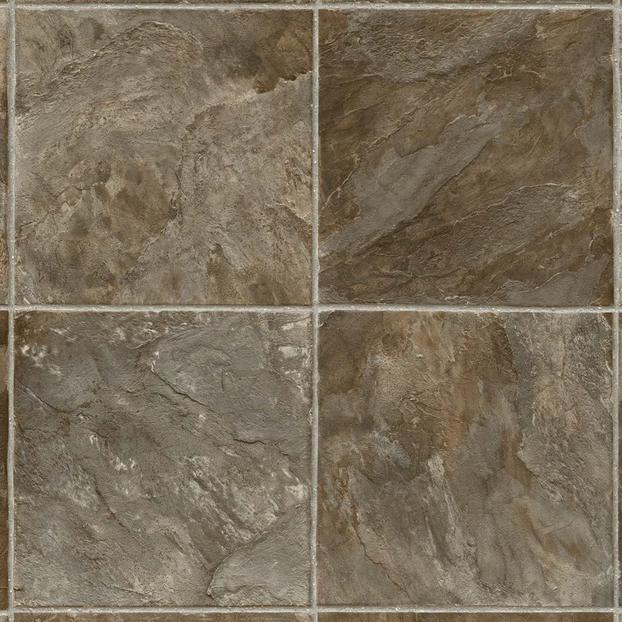 IVC 13.167-ft W Condor Slate 586 Stone Low-Gloss Finish Sheet Vinyl
