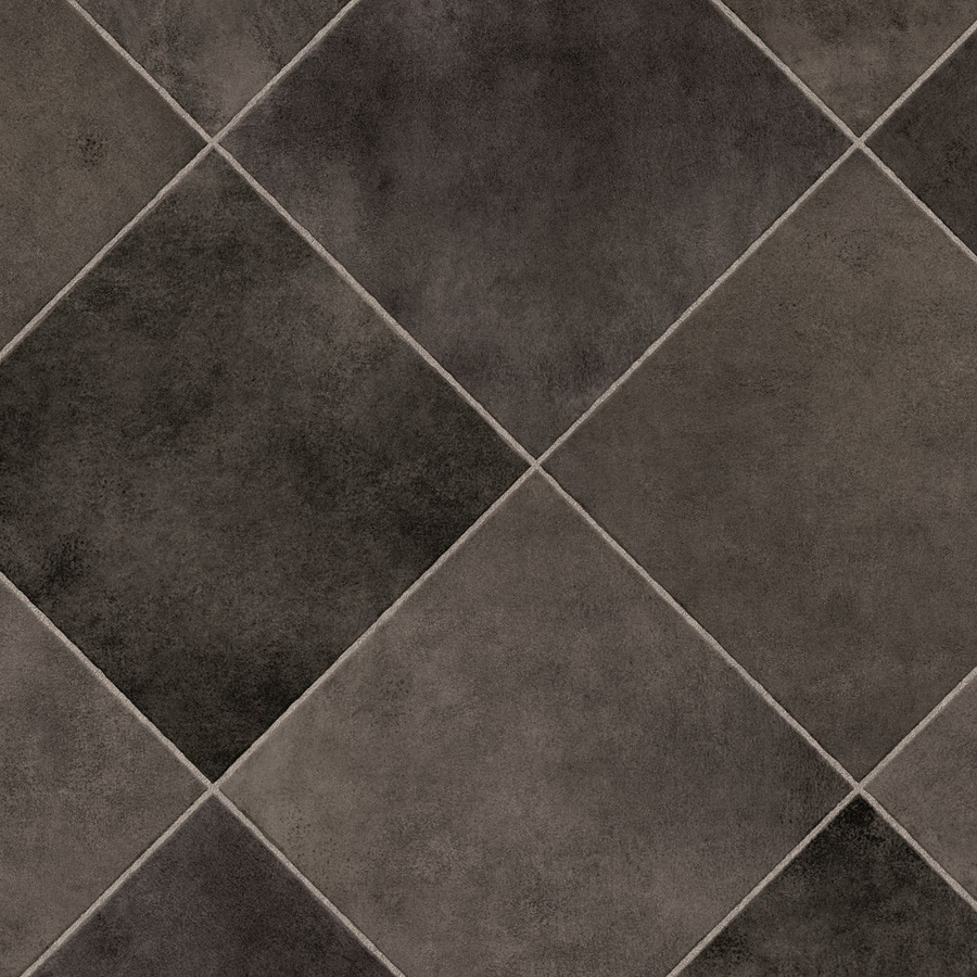 IVC Axis 12-ft W Delta 595 Tile Low-Gloss Finish Sheet Vinyl