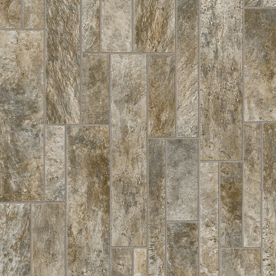 IVC Majestic 13.167-ft W x Cut-to-Length Hilton 545 Tile Low-Gloss Finish Sheet Vinyl