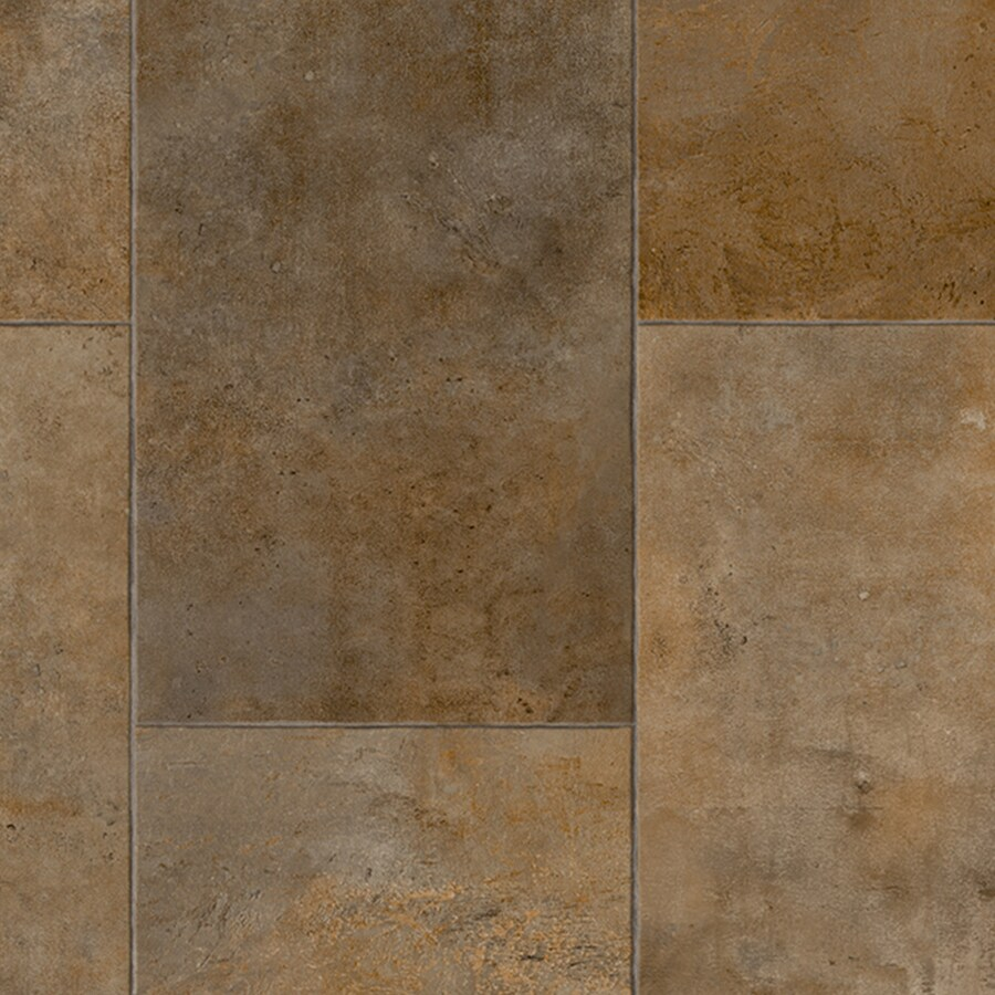IVC Majestic 12-ft W x Cut-to-Length Brandford 558 Tile Low-Gloss Finish Sheet Vinyl
