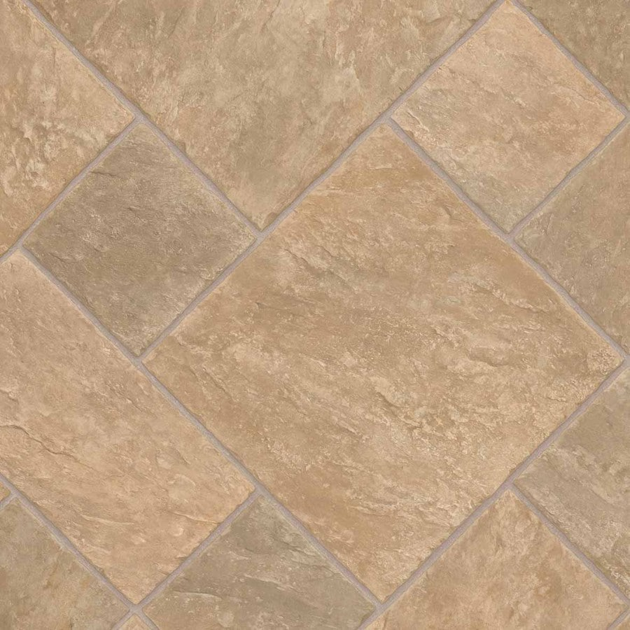 IVC Majestic 12-ft W Venturi 532 Tile Low-Gloss Finish Sheet Vinyl