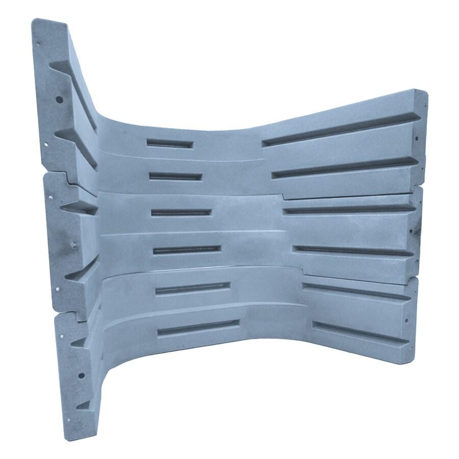 Shop Wellcraft 3-Piece Granite Grey Modular Egress Window Well Kit ...
