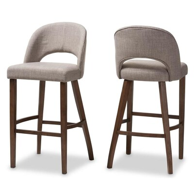 Superb Baxton Studio Melrose Set Of 2 Espresso Bar Stool At Lowes Com Gmtry Best Dining Table And Chair Ideas Images Gmtryco