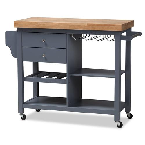 Baxton Studio Gray Modern Kitchen Island at Lowes.com