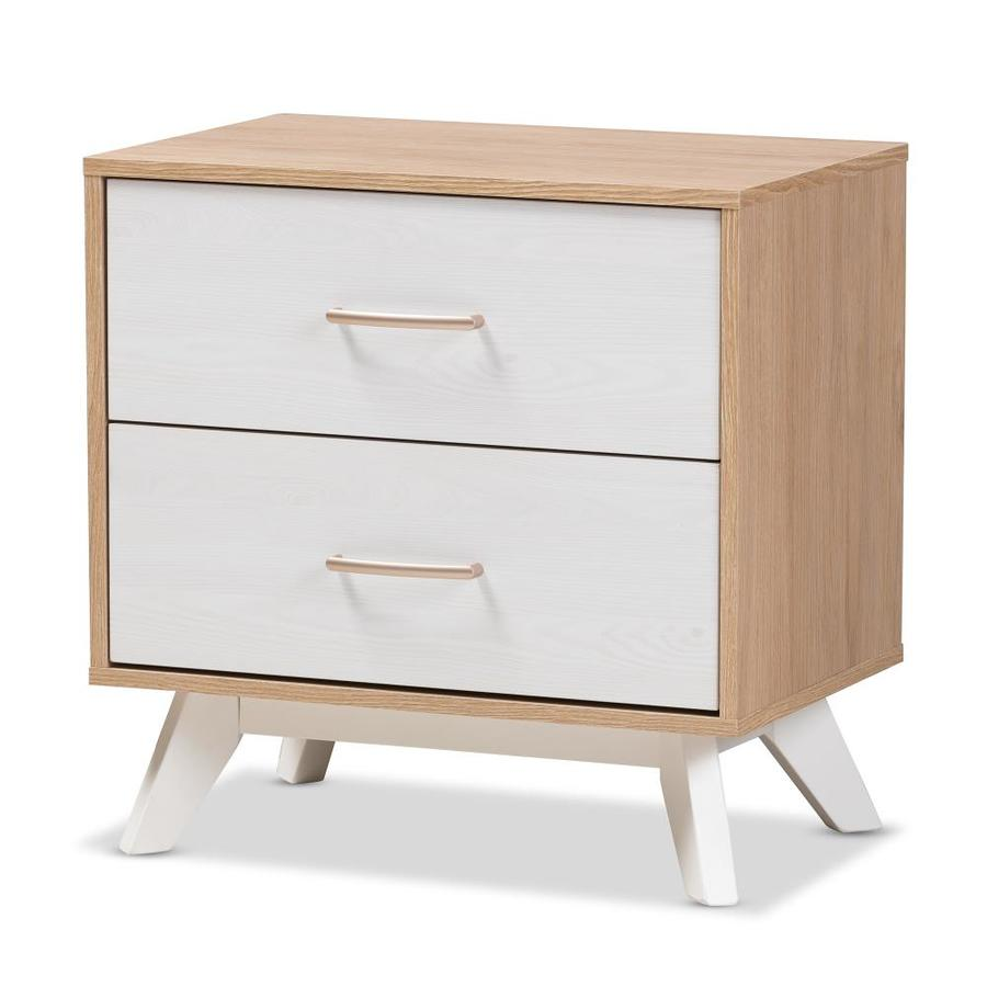 Baxton Studio Helena Nightstand White At Lowes Com
