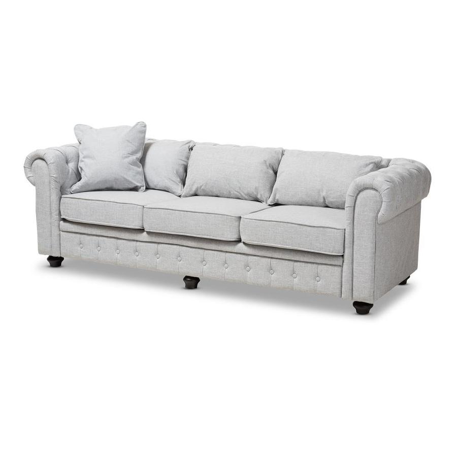 Sectional Sofa Grey Baxton Studio: Baxton Studio Alaise Modern Grey Sofa At Lowes.com