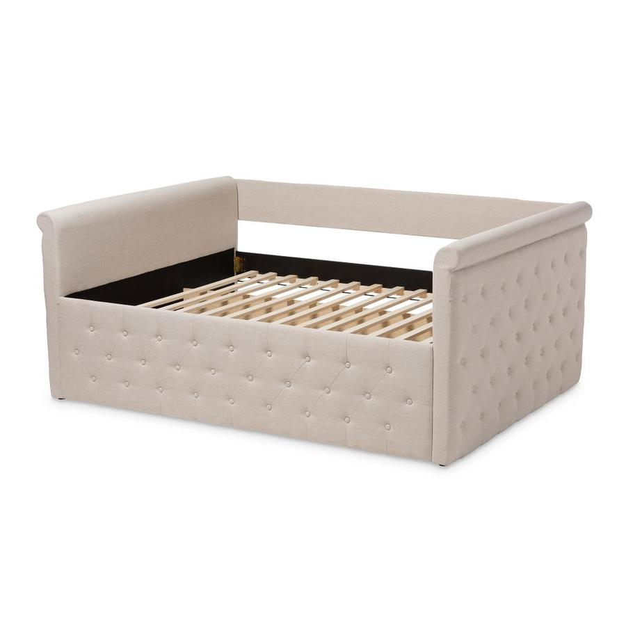 Baxton Studio Amaya Daybed Beige At Lowes Com