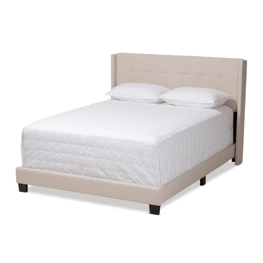 Baxton Studio Lisette King Bed Beige At Lowes Com