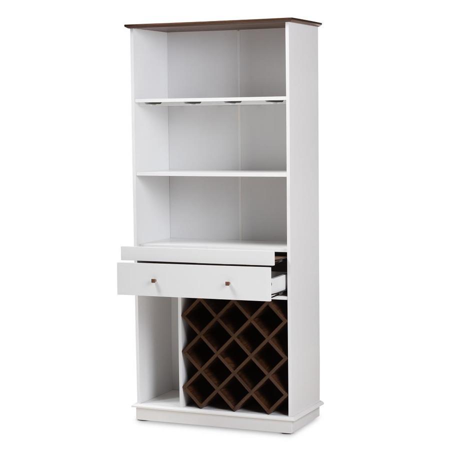 Baxton Studio Mattia Wine Cabinet White In The Wine Storage Department At Lowes Com