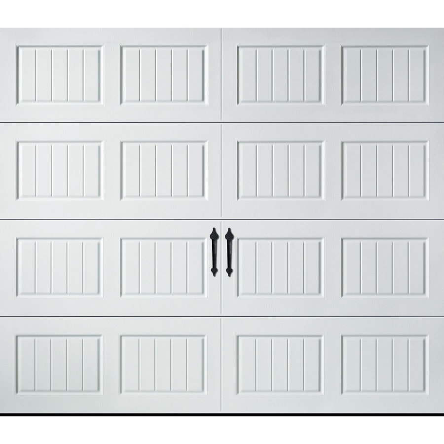 Pella Carriage House Series 96-in x 84-in Insulated White Single Garage Door