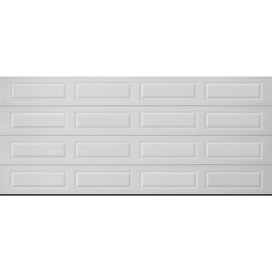 garage doors lowesShop Pella Traditional 192in x 84in White Double Garage Door at