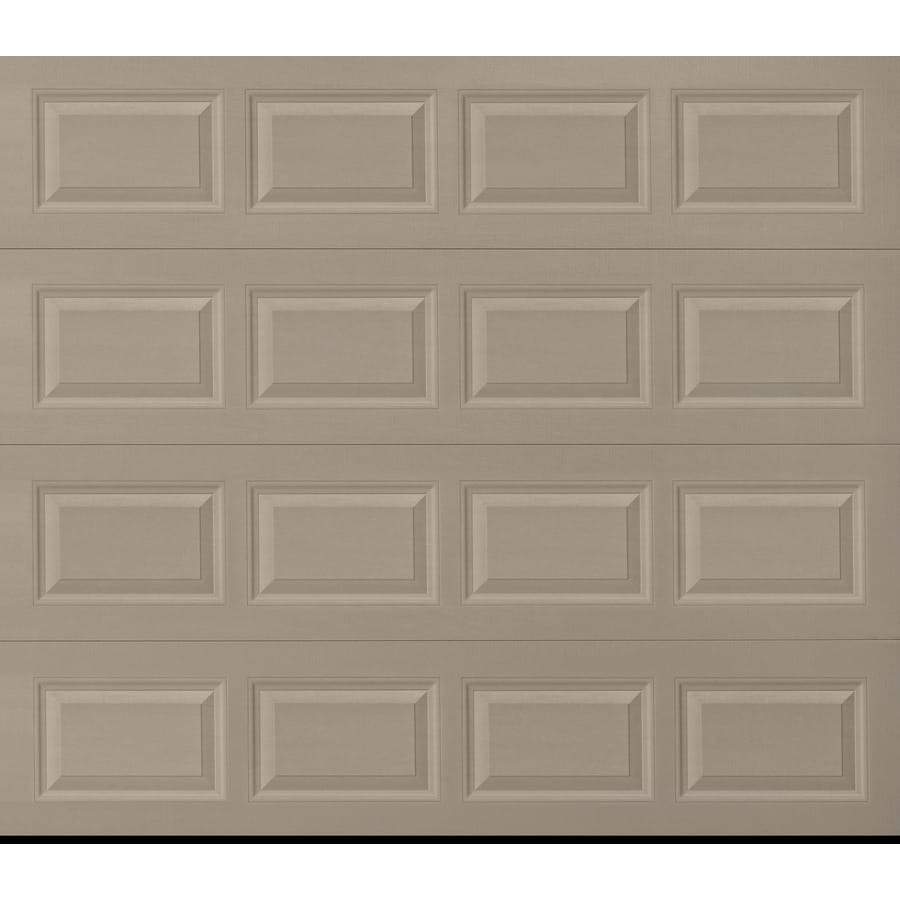 Pella Traditional 96-in x 84-in Sandtone Single Garage Door